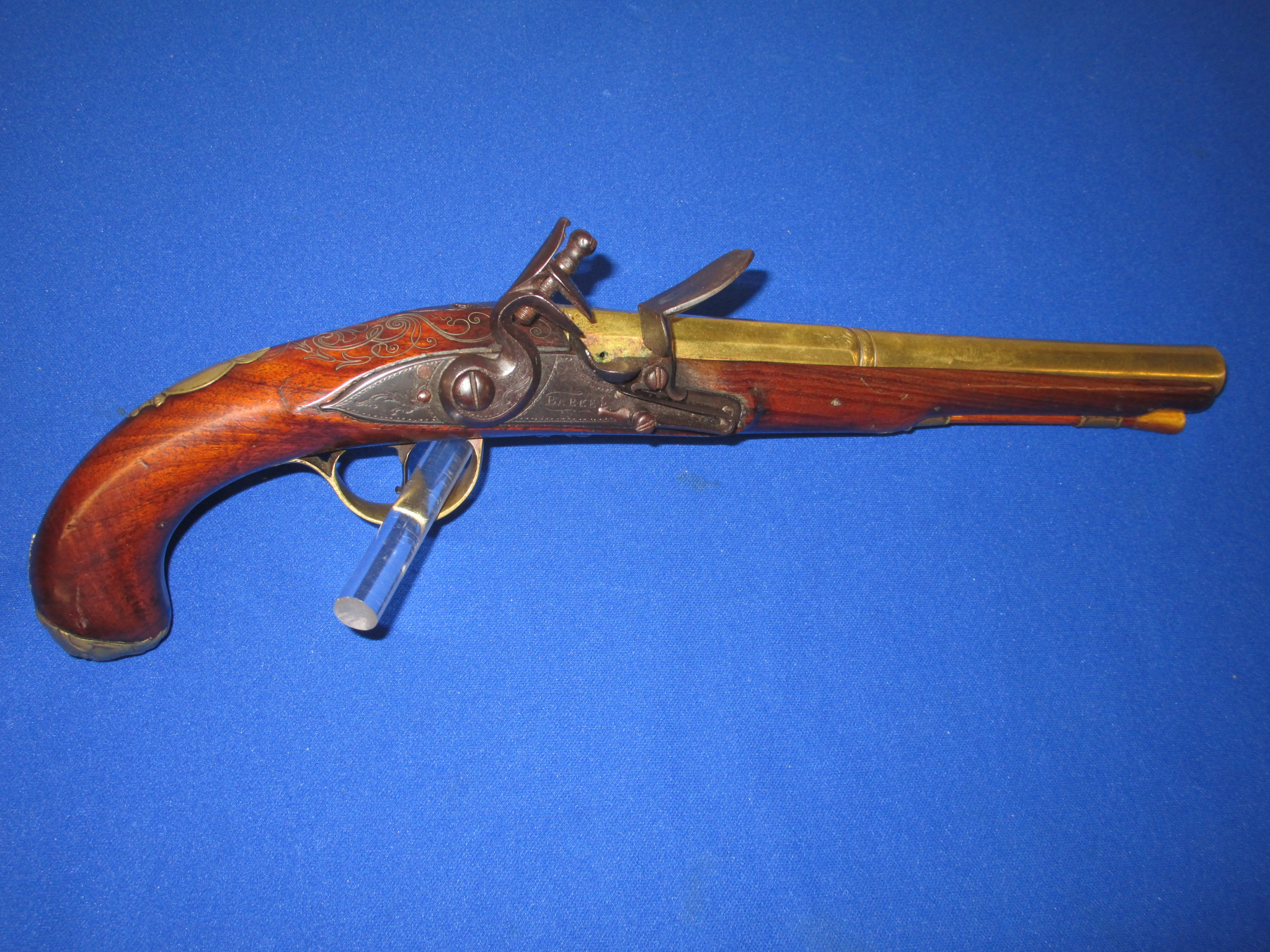 A SCARCE REVOLUTIONARY WAR PERIOD BRASS BARRELED OFFICERS