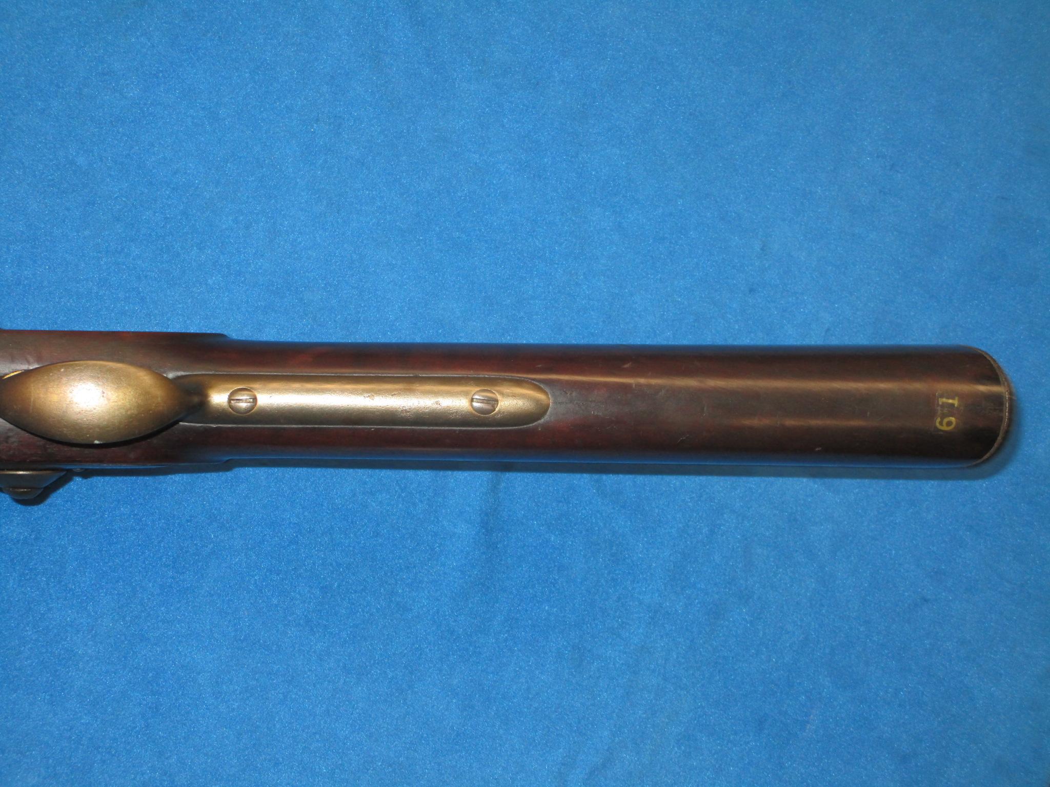A VERY EARLY & RARE U S  HARPER'S FERRY MODEL 1816 FLINTLOCK MUSKET
